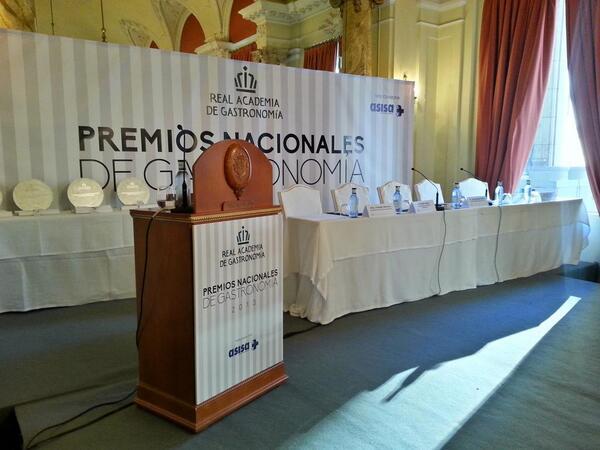 Mario Sandoval, Mejor Jefe de Cocina 2013 por la Real Academia de Gastronomía