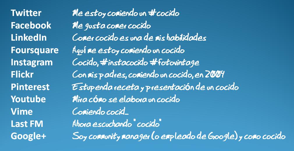 Las redes sociales explicadas para el #CocidoDay